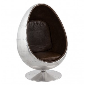 Egg chair Pilot Aviator aluminium